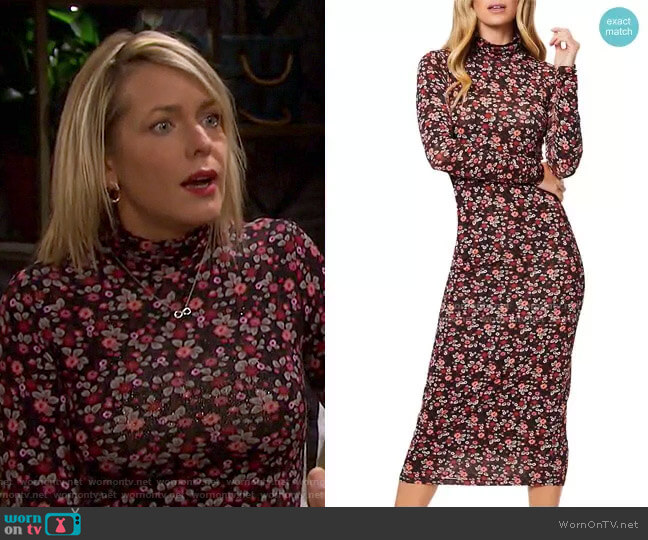 Heidi Printed Bodycon Dress by Ramy Brook worn by Nicole Walker (Arianne Zucker) on Days of our Lives