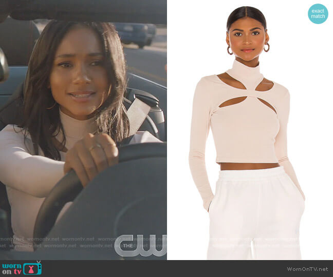 Alyson Cut Out Top by h:ours worn by Layla Keating (Greta Onieogou) on All American