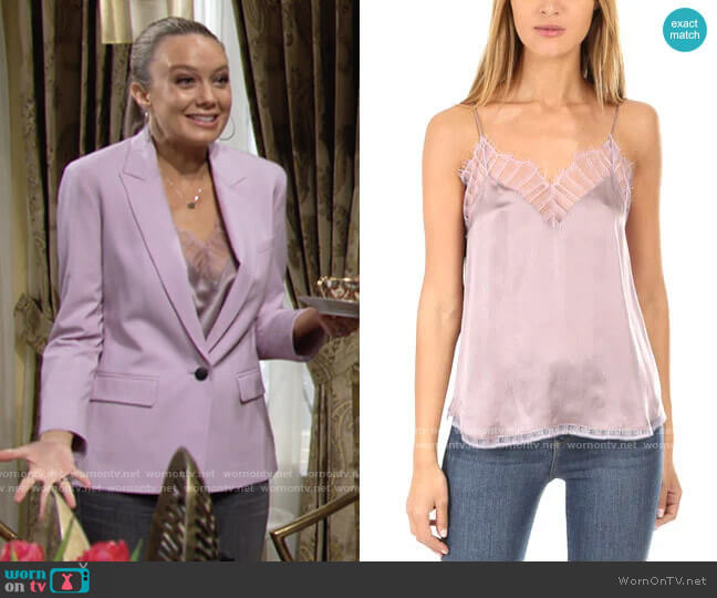 IRO Berwyn Cami worn by Abby Newman (Melissa Ordway) on The Young & the Restless