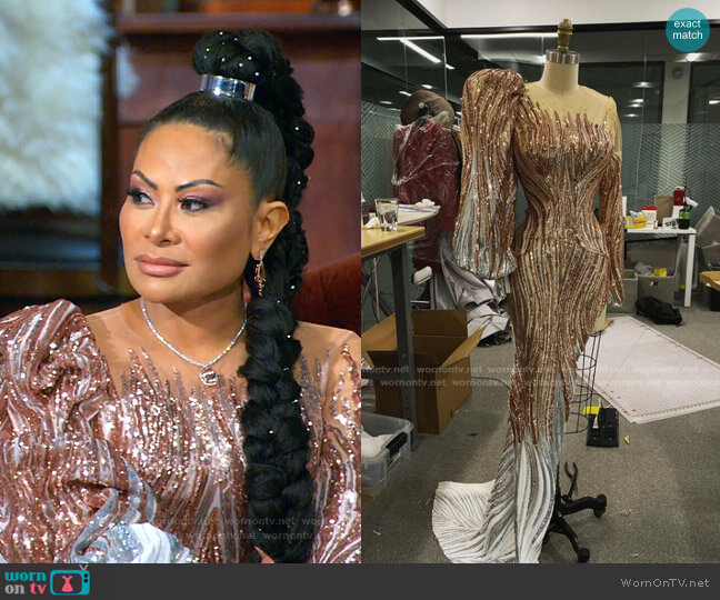 Dress by JXA Fashion worn by Jen Shah  on The Real Housewives of Salt Lake City