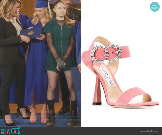 Sereno 100 Sandals by Jimmy Choo worn by Betty Cooper (Lili Reinhart) on Riverdale