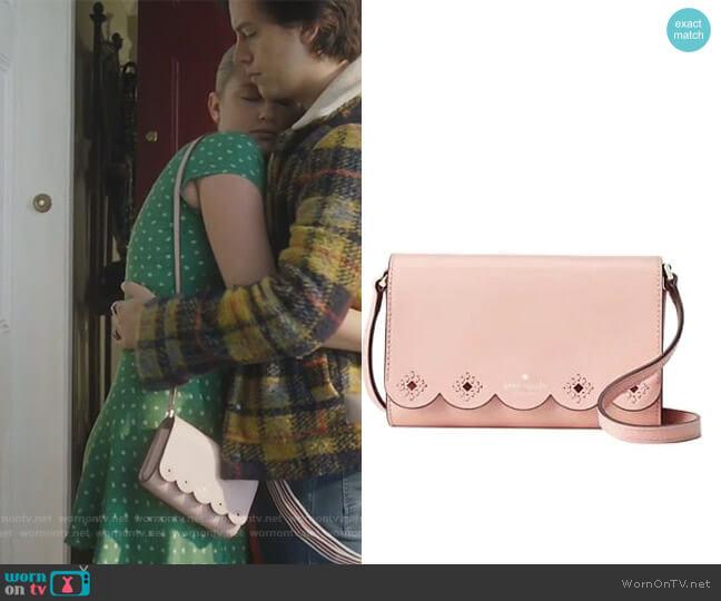 Magnolia Eyelet Crossbody Bag by Kate Spade worn by Betty Cooper (Lili Reinhart) on Riverdale