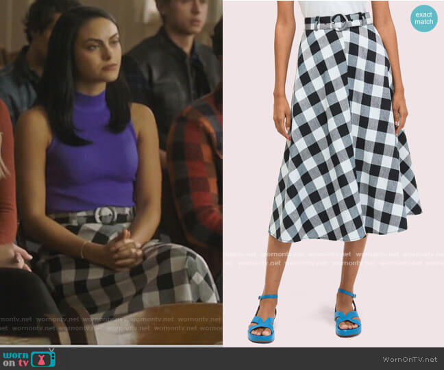 Gingham Skirt by Kate Spade worn by Veronica Lodge (Camila Mendes) on Riverdale
