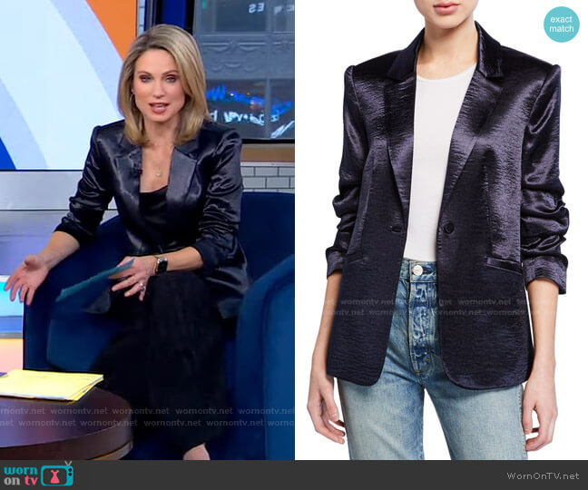 Kylie Jacket by Cinq a Sept worn by Amy Robach  on Good Morning America