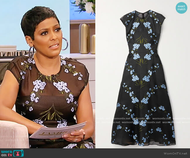 Wildflower fil coupe silk-blend organza midi dress by Lela Rose worn by Tamron Hall  on Tamron Hall Show