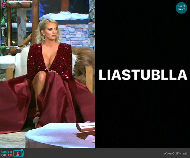 Custom Dress by Lia Stublla worn by Whitney Rose  on The Real Housewives of Salt Lake City