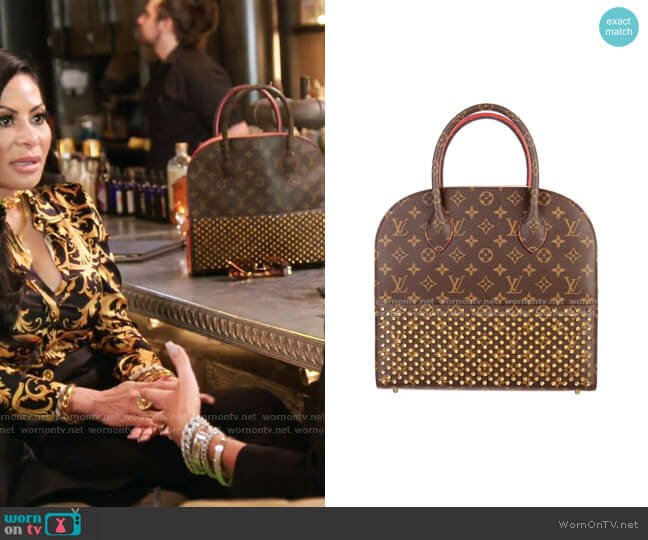 Monogram Lconoclasts Bag by Louis Vuitton x Christian Louboutin worn by Jen Shah  on The Real Housewives of Salt Lake City