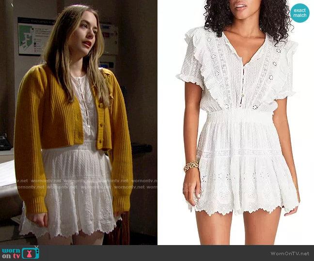 LoveShackFancy Sheldon Dress worn by Hope Logan (Annika Noelle) on The Bold & the Beautiful