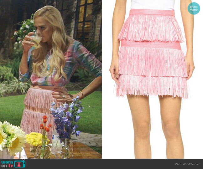 Fringe Skirt by MSGM worn by Kameron Westcott  on The Real Housewives of Dallas