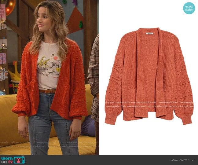 Bobble Cardigan Sweater by Madewell worn by Lex (Jules LeBlanc) on Side Hustle