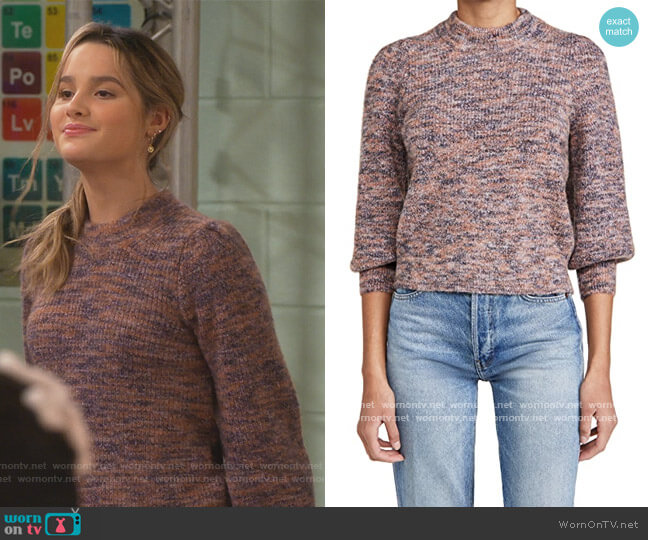 Nicole Puff Sleeve Pullover by Madewell worn by Lex (Jules LeBlanc) on Side Hustle