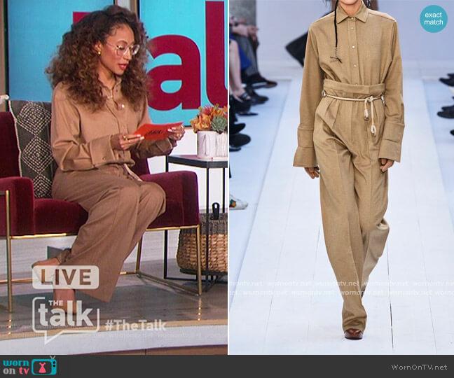 Durata camel hair shirt by Max Mara worn by Elaine Welteroth  on The Talk