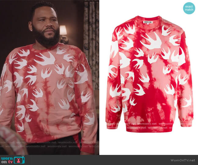 Long Sleeve Tie-dye Sweater by Alexander McQueen worn by Andre Johnson (Anthony Anderson) on Blackish