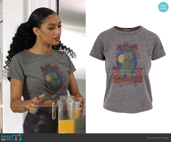 The Little Goodie Goodie Tee by Mother worn by Olivia Baker (Samantha Logan) on All American