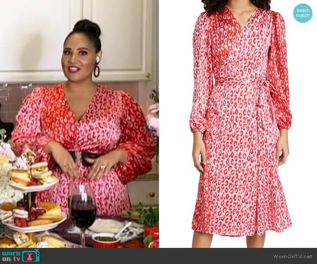 Leopard Wrap Dress by Never Fully Dressed worn by Alejandra Ramos on Today