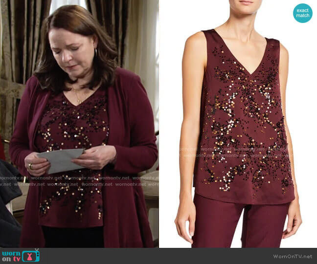 Nic + Zoe In Sequence V-Neck Tank worn by Nina on The Young and the Restless