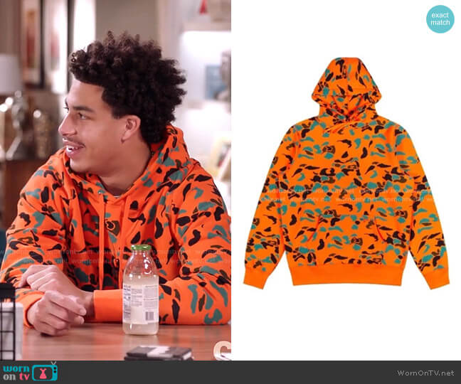 Autumn Duck Camo hoodie by Noah worn by Andre Johnson Jr (Marcus Scribner) on Blackish