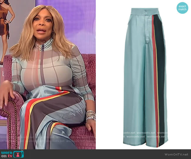 Caribbean Pride Pant by Fencoel worn by Wendy Williams  on The Wendy Williams Show