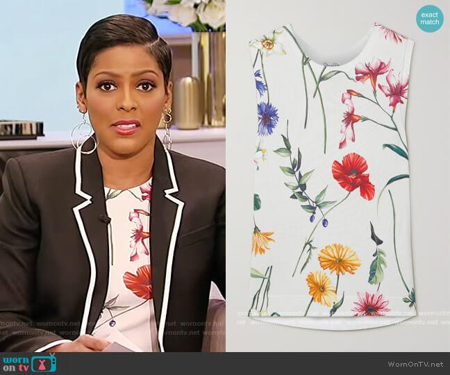 Floral Knit Tank by Oscar De La Renta worn by Tamron Hall  on Tamron Hall Show