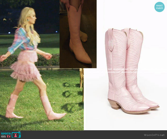 Punk Boots by Hadleigh's  worn by Kameron Westcott  on The Real Housewives of Dallas