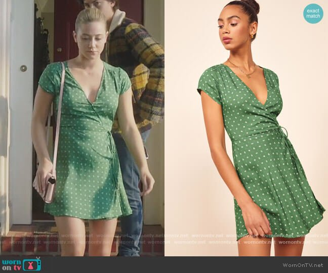 Ports Wrap Mini Dress by Reformation worn by Betty Cooper (Lili Reinhart) on Riverdale