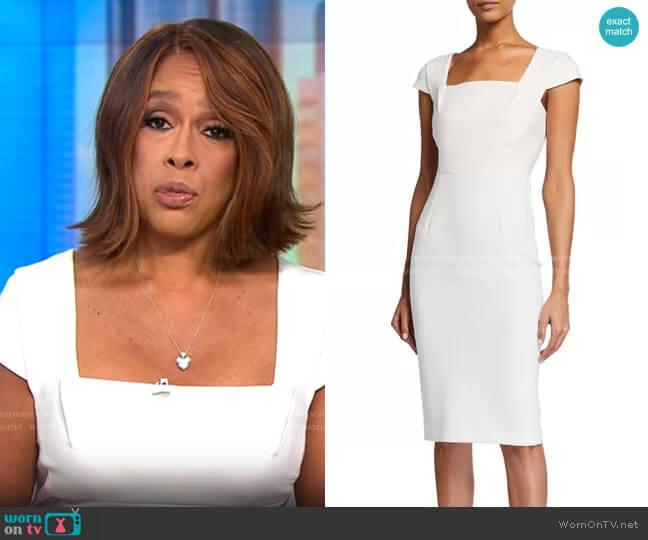 Roland Mouret Jeddler Dress worn by Gayle King  on CBS Mornings