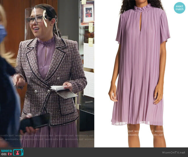 Lady Plisse Shift Dress by Samsoe Samsoe worn by Sherri Kansky (Ruthie Ann Miles) on All Rise