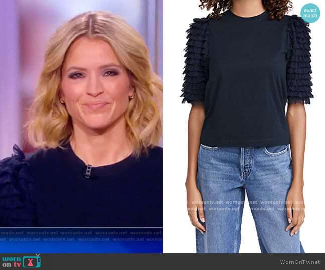 Novia Short Sleeve Tee by Sea worn by Sara Haines  on The View