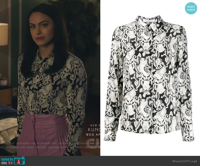 All Over Print Shirt by See by Chloe worn by Veronica Lodge (Camila Mendes) on Riverdale