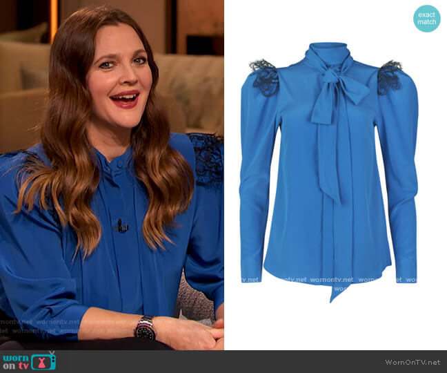 Chastity Blouse by Silvia Tcherassi worn by Drew Barrymore  on The Drew Barrymore Show