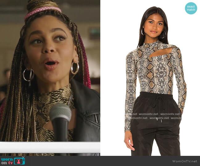 Polina Cutout Top by Superdown worn by Toni Topaz (Vanessa Morgan) on Riverdale