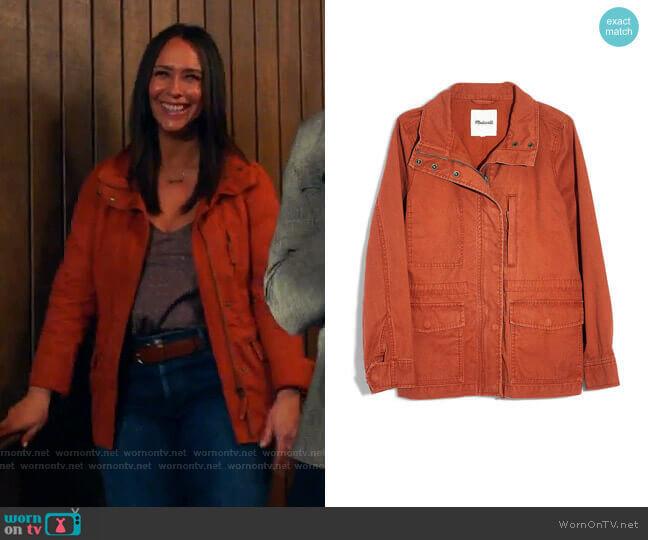 Surplus Cotton Jacket by Madewell worn by Maddie Kendall (Jennifer Love Hewitt) on 9-1-1