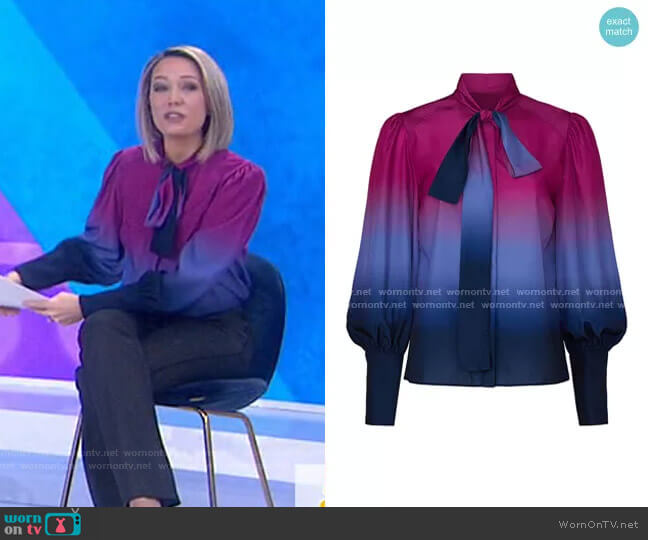 Susan Ombre Top by Tanya Taylor worn by Dylan Dreyer  on Today
