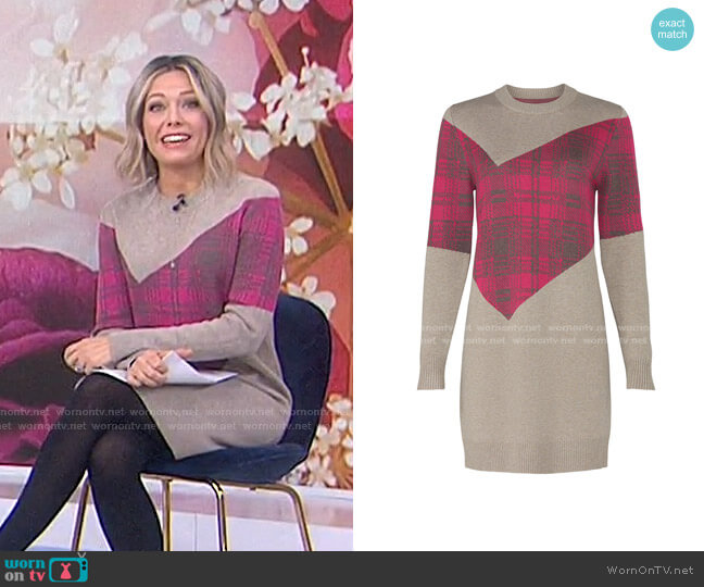 Argyle Sweater Dress by Thakoon Collective worn by Dylan Dreyer  on Today