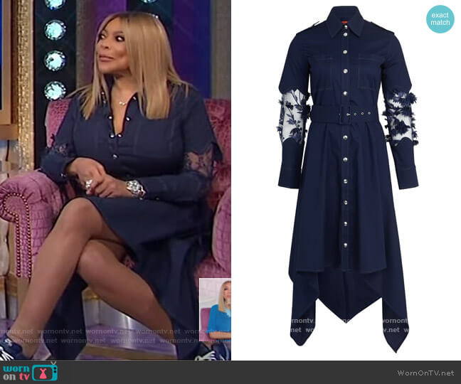 Shirt Dress by Thebe Magugu worn by Wendy Williams  on The Wendy Williams Show