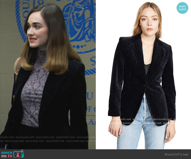 Cinched Blazer by Theory worn by Samantha Powell (Audrey Corsa) on All Rise