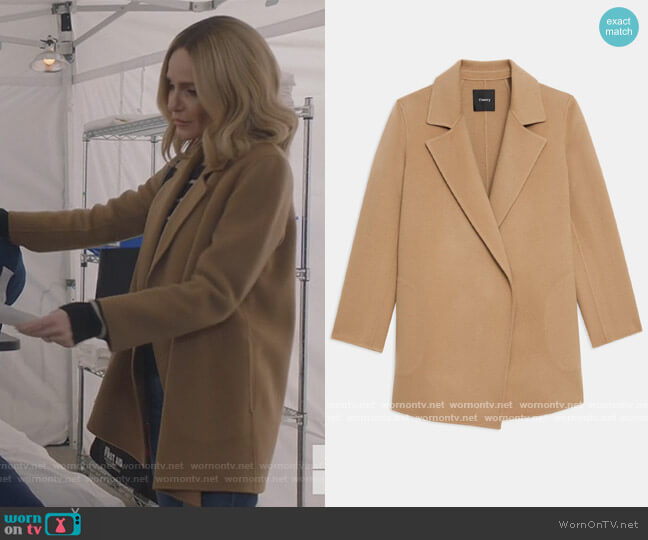 Clairene Jacket in Double-Face Wool-Cashmere by Theory worn by Laura Baker (Monet Mazur) on All American