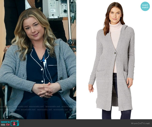 Judith Hooded Cardigan by Ugg worn by Nicolette Nevin (Emily VanCamp) on The Resident