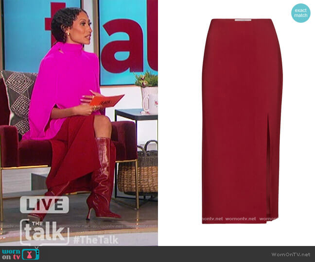 Cady Midi Skirt by Valentino worn by Elaine Welteroth  on The Talk
