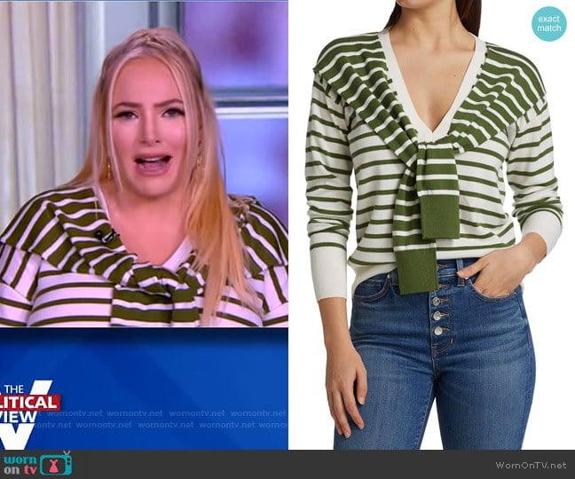 Leni Tie Stripe Sweater by Veronica Beard worn by Meghan McCain  on The View