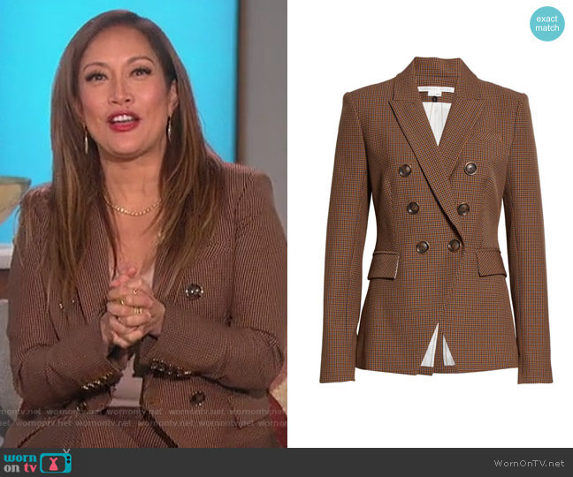 Miller Dickey Jacket by Veronica Beard worn by Carrie Inaba  on The Talk
