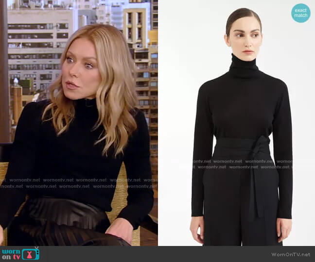 Wool Yarn Turtleneck by Max Mara worn by Kelly Ripa  on Live with Kelly & Ryan