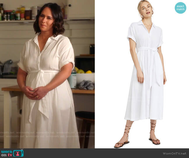 Caylin Dress by Xirena worn by Maddie Kendall (Jennifer Love Hewitt) on 9-1-1