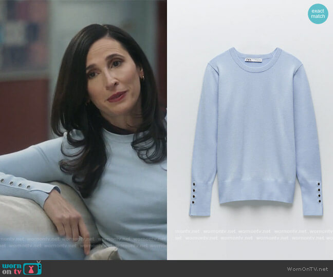 Basic Knit Sweater by Zara worn by Delia (Michaela Watkins) on The Unicorn