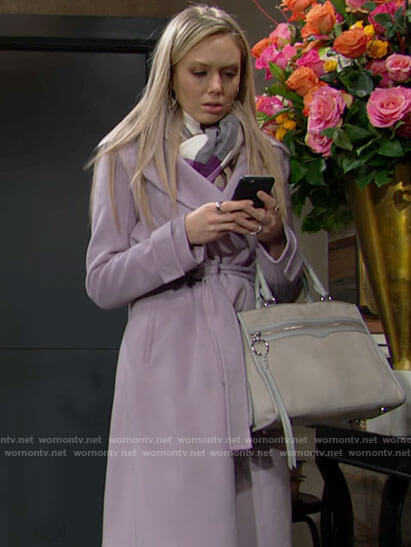 Abby's lilac purple coat on The Young and the Restless