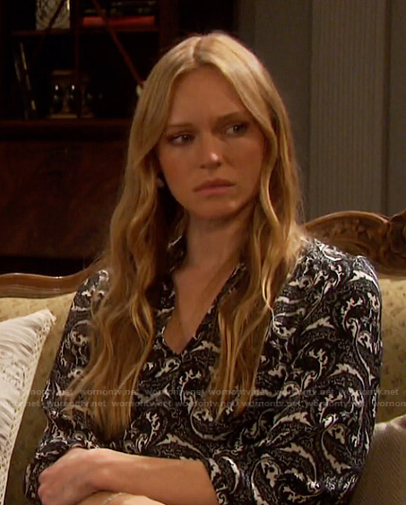 Abigail's paisley print dress on Days of our Lives