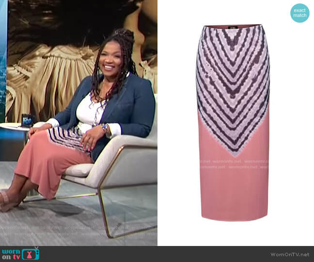 Felix Print Skirt by AFRM worn by Kym Whitley  on E! News