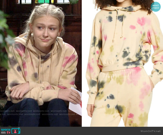 AFRM Fink Tie Dye Hoodie worn by Faith Newman (Alyvia Alyn Lind) on The Young & the Restless