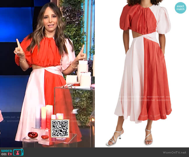 Entwined Dress by Aje worn by Lilliana Vazquez  on E! News