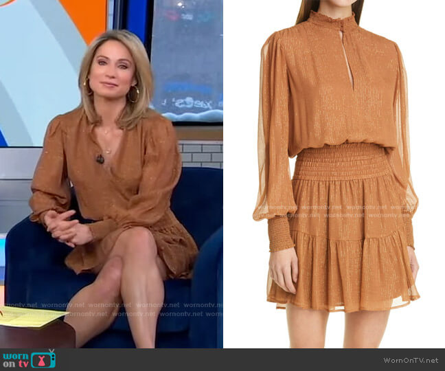 Silvie Dress by A.L.C. worn by Amy Robach  on Good Morning America